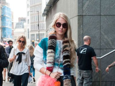 Street style z London Fashion Week