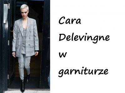 Stylizacje gwiazd: Cara Delevingne w garniturze
