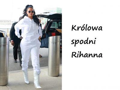 Stylizacje gwiazd: biała Rihanna