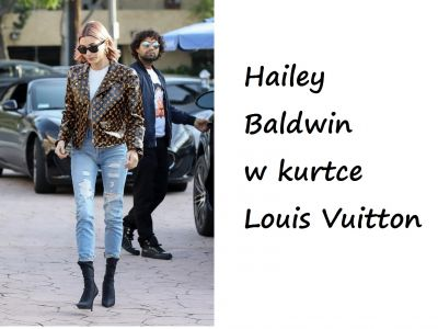 Modne gwiazdy: Hailey Baldwin w Louis Vuitton